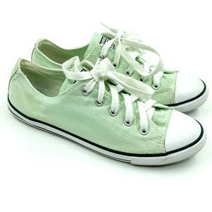 Converse All Star Womens Sz 7 Light Green Lace Up